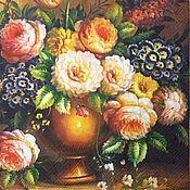 Материалы для творчества handmade. Livemaster - original item 533.  Servilleta para decoupage las Flores en el florero. Handmade.
