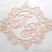 Свадебный салон handmade. Livemaster - original item Wedding monogram and initials. Handmade.