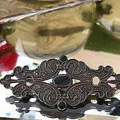 Винтаж handmade. Livemaster - original item Brooch 925 silver, onyx, Europe. Handmade.