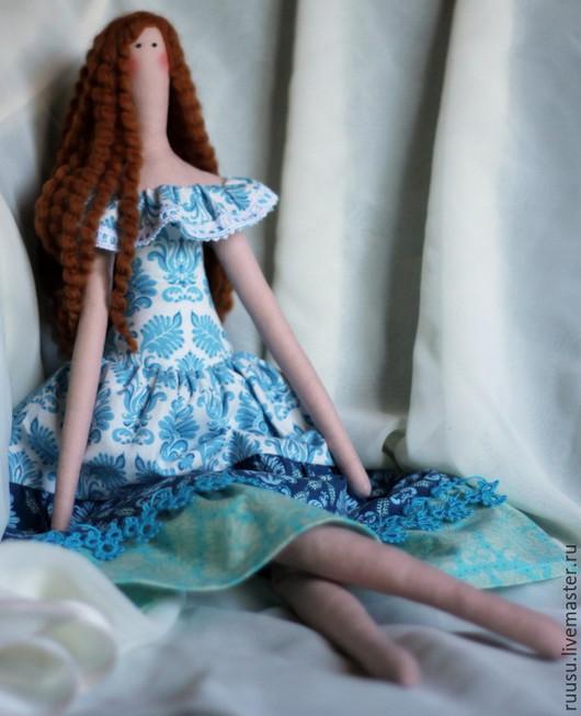 Куклы Тильды ручной работы. Ярмарка Мастеров - ручная работа. Купить Тильда в голубом платье. Handmade. Голубой, интерьерная игрушка