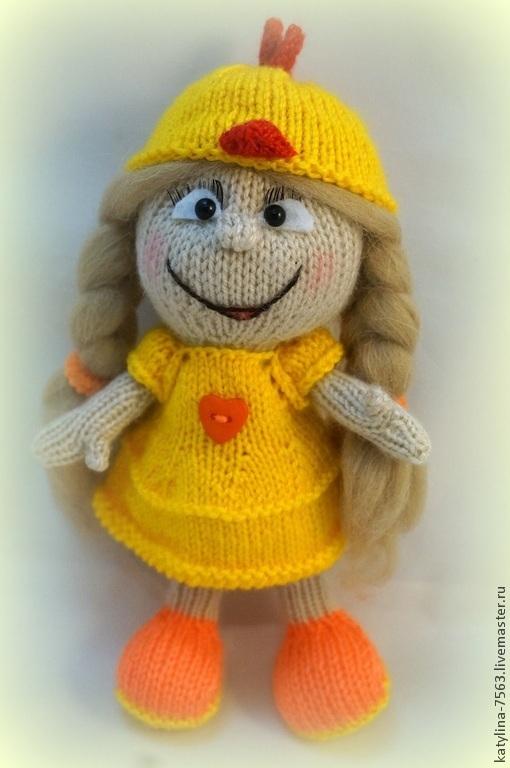 Сказочные персонажи ручной работы. Ярмарка Мастеров - ручная работа. Купить Кукла в костюме цыпленка. Handmade. Разноцветный, кукла в подарок