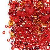 Бисер ручной работы. Ярмарка Мастеров - ручная работа Бисер Микс TOHO №3208 красный Японский бисер TOHO Beads 10гр. Handmade.