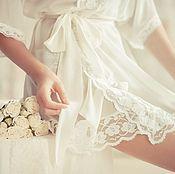 Одежда ручной работы. Ярмарка Мастеров - ручная работа Пеньюар Нежное Утро Невесты. Handmade.