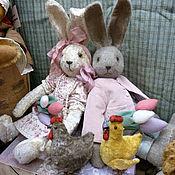 Куклы и игрушки ручной работы. Ярмарка Мастеров - ручная работа Зайцы Луиза и Резо. Handmade.