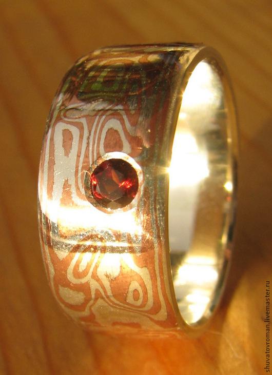"""Кольца ручной работы. Ярмарка Мастеров - ручная работа. Купить Кольцо """"Тема граната"""". Handmade. Серебряный, авторская ручная работа"""
