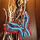 """Подвески ручной работы. Ярмарка Мастеров - ручная работа. Купить Подвеска из бисера и бусин """"Бабочка"""". Handmade. Разноцветный, подвеска, бабочка"""