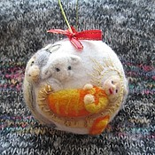 """Подарки к праздникам ручной работы. Ярмарка Мастеров - ручная работа Ёлочный шар """"Рождество"""". Handmade."""