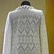 Кофты и свитера ручной работы. Кардиган  вязаный ажурный. Ksenia (12FOREVER). Интернет-магазин Ярмарка Мастеров. Однотонный, одежда для женщин