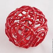 Сувениры и подарки handmade. Livemaster - original item Bell - Christmas ball Dark red. Handmade.