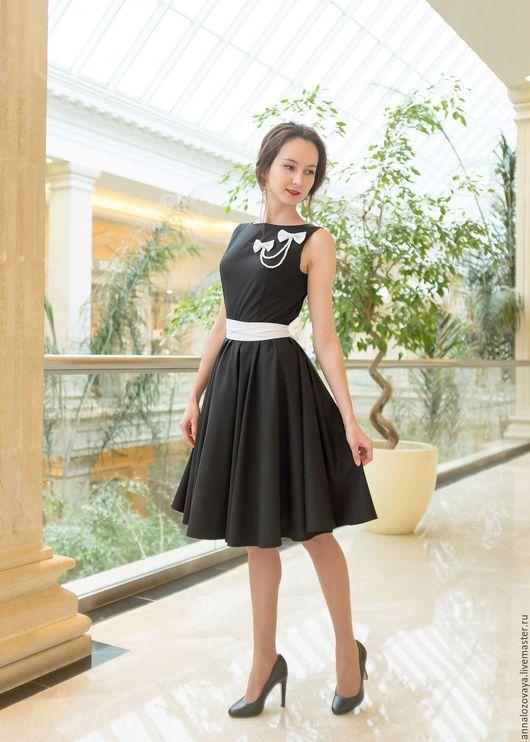 Платья ручной работы. Ярмарка Мастеров - ручная работа. Купить Платье 017 New look. Handmade. Чёрно-белый
