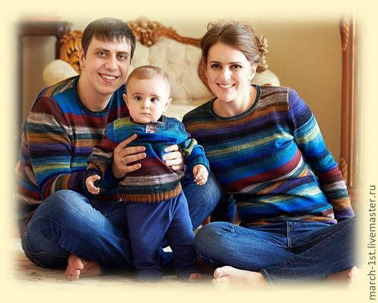 Кофты и свитера ручной работы. Ярмарка Мастеров - ручная работа. Купить Noro family look. Handmade. Разноцветный, одежда для детей