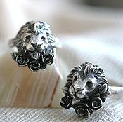 Украшения handmade. Livemaster - original item Silver Ring ORDER of the LION AND RED ROSE. Handmade.