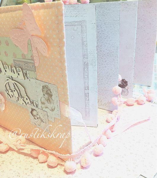 Подарки для новорожденных, ручной работы. Ярмарка Мастеров - ручная работа. Купить альбом для новорождённых , альбом первый год малыша. Handmade. миниальбом