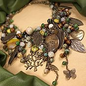 Украшения handmade. Livemaster - original item Melody Olive Groves. necklace. Handmade.