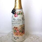 Сувениры и подарки ручной работы. Ярмарка Мастеров - ручная работа Декорирование любых бутылок. Handmade.