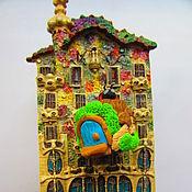 Для дома и интерьера ручной работы. Ярмарка Мастеров - ручная работа Сказочный домик-пенек. Handmade.