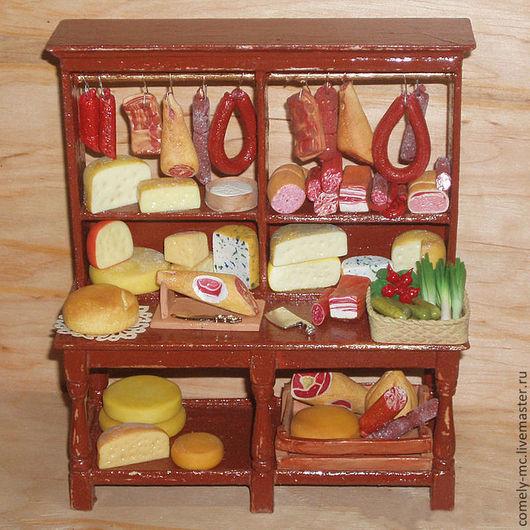 """Кукольный дом ручной работы. Ярмарка Мастеров - ручная работа. Купить Миниатюра """"Бакалейная лавка"""". Handmade. Румбокс, полимерная глина"""