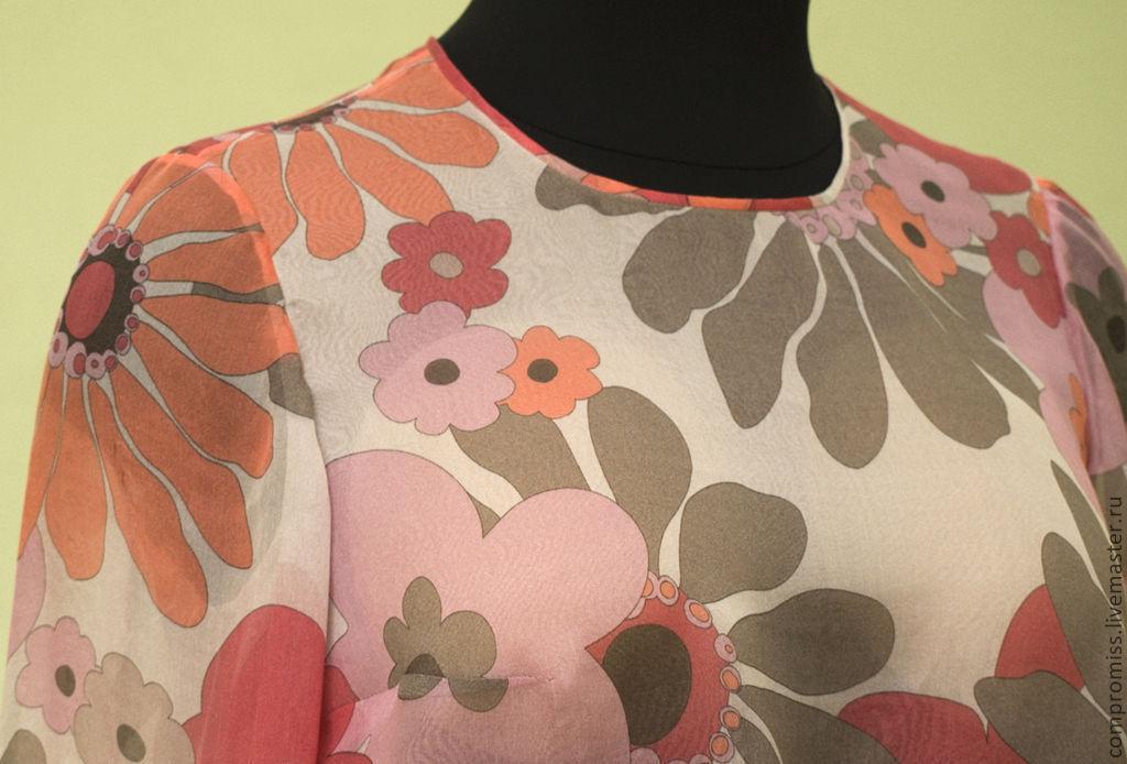 Блузки из шелка и шифона