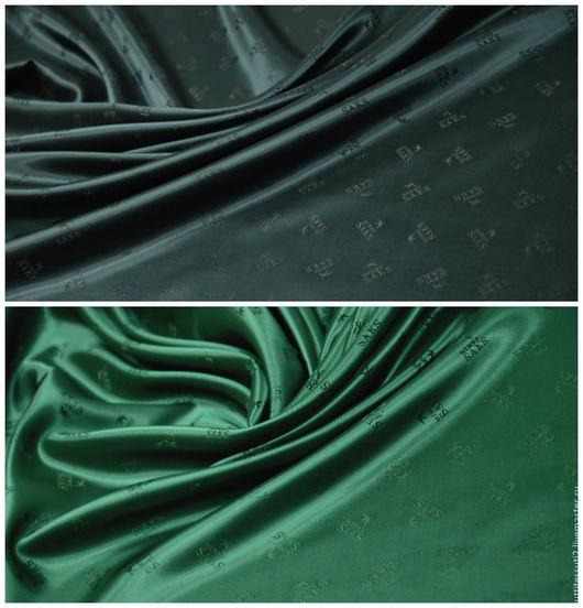 Шитье ручной работы. Ярмарка Мастеров - ручная работа. Купить Подкладочная ткань линии SAKS. Handmade. Зеленый, ткани Италии