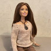 Одежда для кукол ручной работы. Ярмарка Мастеров - ручная работа Одежда для Барби: шерстяной джемпер для барби. Handmade.