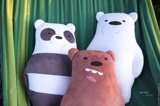 Текстиль, ковры ручной работы. Ярмарка Мастеров - ручная работа. Купить Мы обычные медведи. Handmade. Комбинированный, медведь подушка