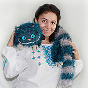 Куклы и игрушки ручной работы. Ярмарка Мастеров - ручная работа Чеширский кот (петроль). Handmade.