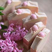 """Мыло ручной работы. Ярмарка Мастеров - ручная работа """"Шелк и жемчуг"""" натуральное мыло с нуля. Handmade."""