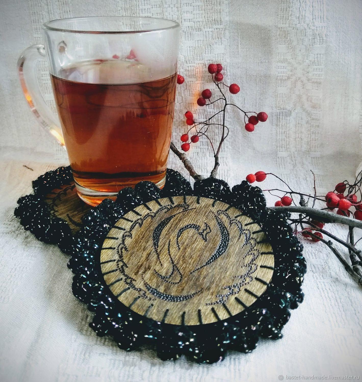 """Подставки под стаканы, костеры деревянные """"Черный лебедь"""", Подставки, Нижневартовск,  Фото №1"""