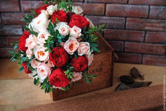 Свадебный букет невесты из живых цветов Пиано