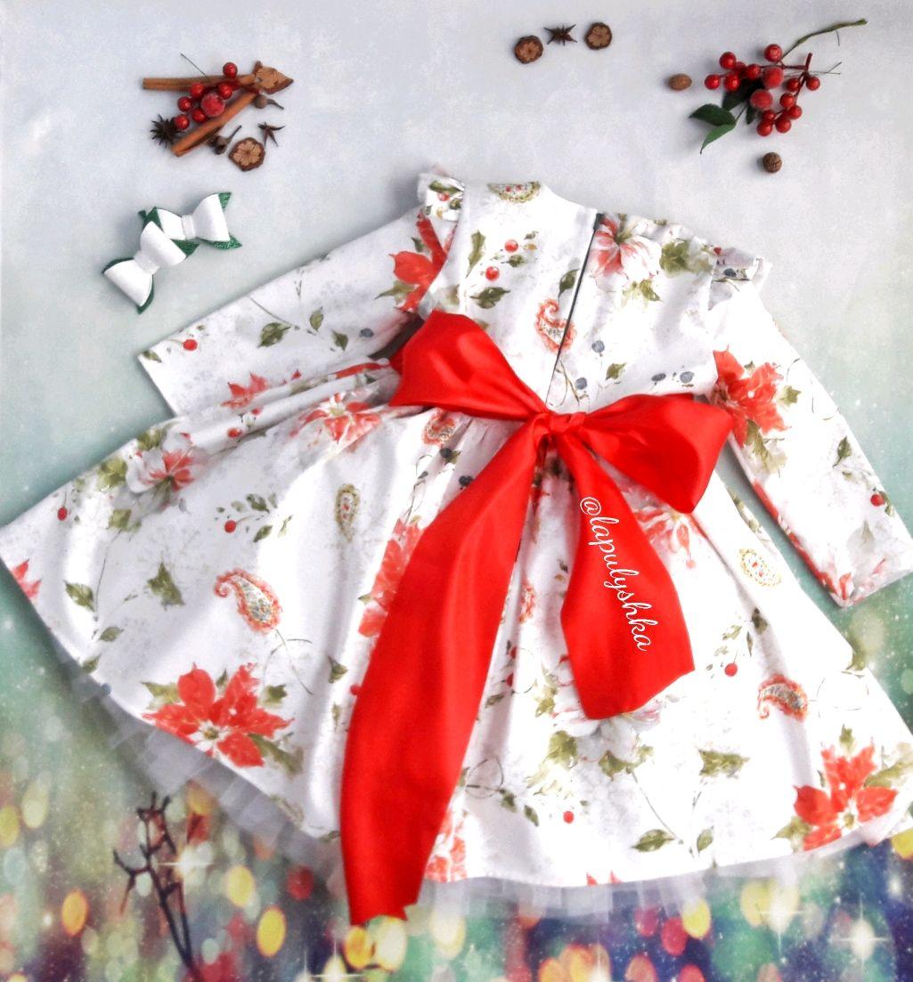 Новогоднее праздничное платье из американского хлопка