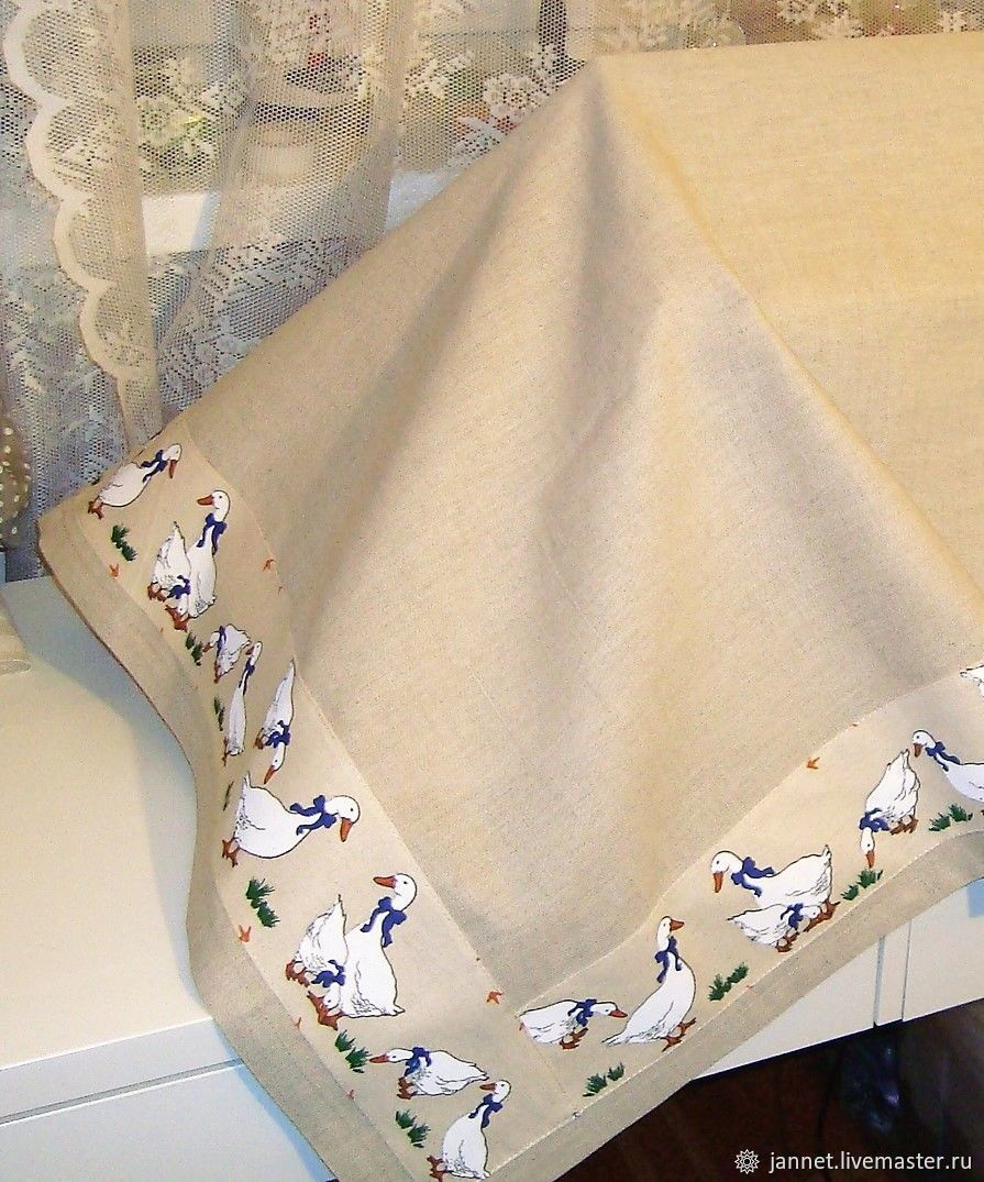 GEESE tablecloth in stock, Tablecloths, Moscow,  Фото №1