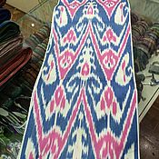 Материалы для творчества handmade. Livemaster - original item Uzbek cotton ikat hand weaving. FM101. Handmade.