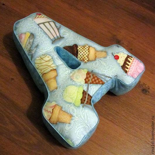 Детская ручной работы. Ярмарка Мастеров - ручная работа. Купить мягкие буквы подушки из ткани. Handmade. Буквоподушка, буквы из ткани