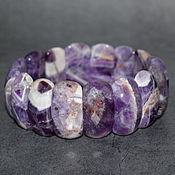 Украшения handmade. Livemaster - original item Bracelet made of natural amethyst with cut. Handmade.