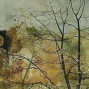 Картины и панно ручной работы. Ярмарка Мастеров - ручная работа картина Осень акварель. Handmade.