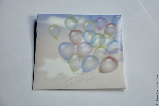 """Фото и видео услуги ручной работы. Ярмарка Мастеров - ручная работа. Купить Конверт для диска """"Воздушные шары"""". Handmade. Разноцветный"""
