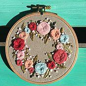 Гобелен ручной работы. Ярмарка Мастеров - ручная работа Хоровод летних цветов. Handmade.