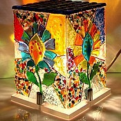 Для дома и интерьера handmade. Livemaster - original item Lamp night light from art glass Kaleidoscope, fusing. Handmade.