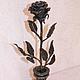 Элементы интерьера ручной работы. Ярмарка Мастеров - ручная работа. Купить Роза кованая в вазе. Handmade. Черный, Ковка