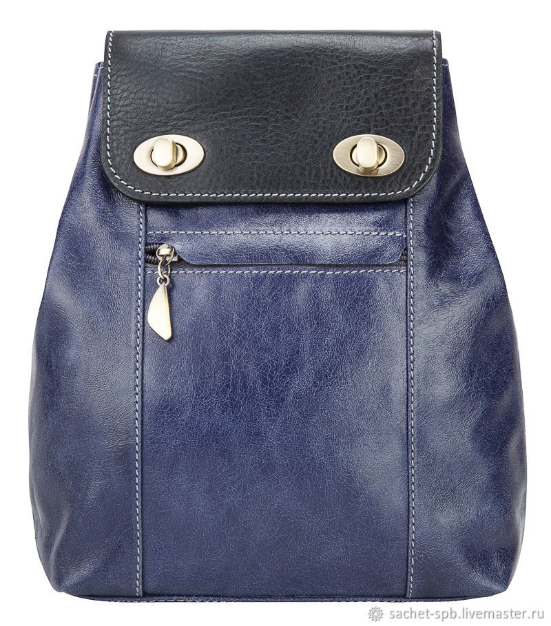 Womens leather backpack 'Palermo' (bright blue), Backpacks, St. Petersburg,  Фото №1