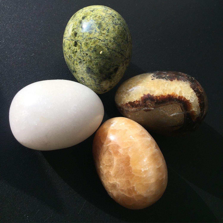 Eggs from stone calcite white, calcite onyx, septaria, Ball, Krasnodar,  Фото №1