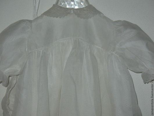 Реставрация. Ярмарка Мастеров - ручная работа. Купить винтажный крестильный комплект - конверт, платье, распашонка, чепчик. Handmade. Белый, хлопок