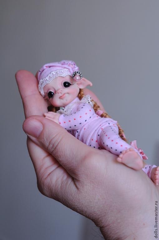 Коллекционные куклы ручной работы. Ярмарка Мастеров - ручная работа. Купить Колыбельная Фея. Handmade. Розовый, сон