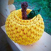 Корзины ручной работы. Ярмарка Мастеров - ручная работа Корзина яблоко из трикотажной пряжи. Handmade.