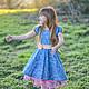Одежда для девочек, ручной работы. Платье для девочки синее Хлопок. Camilla Reynolds. Ярмарка Мастеров. Для фотосессии, подарок для девочки