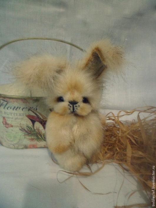 Мишки Тедди ручной работы. Ярмарка Мастеров - ручная работа. Купить Зайка бежевый. Handmade. Бежевый, подарок на новый год