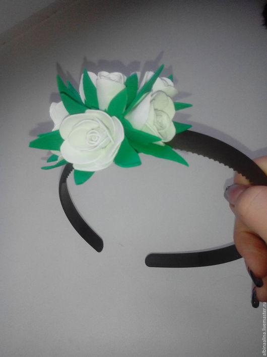 Диадемы, обручи ручной работы. Ярмарка Мастеров - ручная работа. Купить Ободок с розами. Handmade. Комбинированный, ободок ручной работы