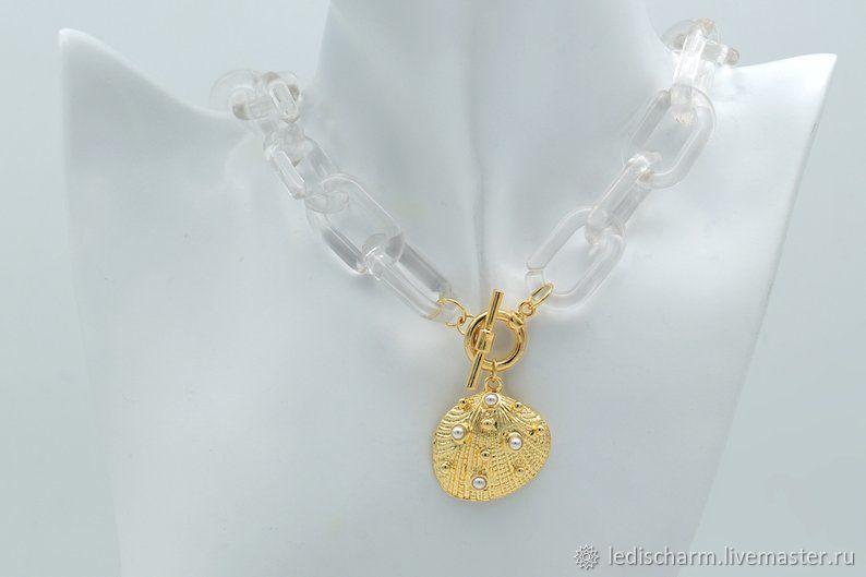 acrylic chain, transparent, link 16h27h9 mm, Chains, Samara,  Фото №1