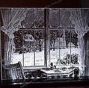 Подарки к праздникам ручной работы. Ярмарка Мастеров - ручная работа Зимний вечер Ночник сувенир. Handmade.