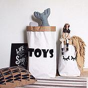 Для дома и интерьера ручной работы. Ярмарка Мастеров - ручная работа Мешок для хранения игрушек. Handmade.